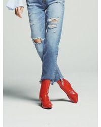 W Concept - Rora Orange Patent Boots - Lyst