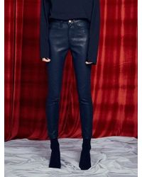 13Month [unisex] Silm Coated Jeans Black