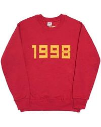 FRESH ANTI YOUTH - 1998-crewneck Sweater - Red - Lyst