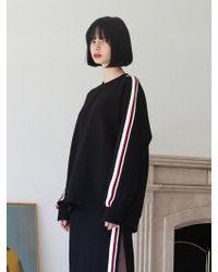 TARGETTO - [unisex] Tape Sweatshirt Black Red - Lyst