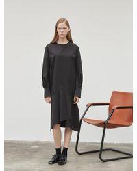 NILBY P - Unbalanced Hem Line Dress - Lyst