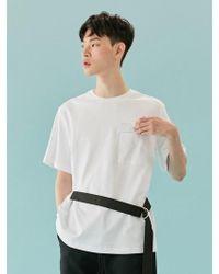 BONNIE&BLANCHE - Belted Pocket T-shirt (white) - Lyst