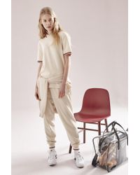 NOHANT - Knitted Jogger Pants Ivory - Lyst