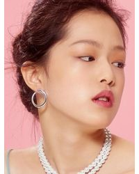 VIOLLINA - C Silver Earring - Lyst