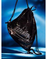 UNDER82 - Shinning Drawstring Wappen Bag Black - Lyst