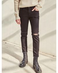 LIUNICK - Utmost Slim Black Jean - Lyst