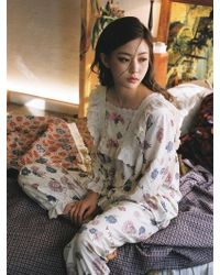 ULLALA PAJAMAS - Blanc Rose Cream Two Piece - Lyst