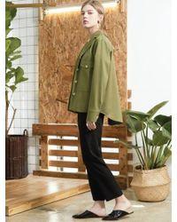 CLUE DE CLARE | Pocket Field Jacket Khaki | Lyst