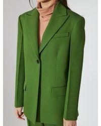 Aheit - Single Breasted Jacket Green - Lyst