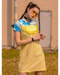 bpb - Apron Check Dress Yellow - Lyst