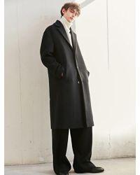 BONNIE&BLANCHE - Contrast Single Long Coat Black - Lyst