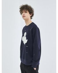 COLLABOTORY - [unisex] Artist Mickey Mouse Sweatshirt In Navy - Lyst