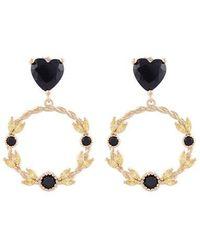NOONOO FINGERS - Flower Crown Heart Earring - Lyst