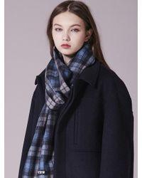 W Concept - Wool Check Muffler_ml032 - Lyst