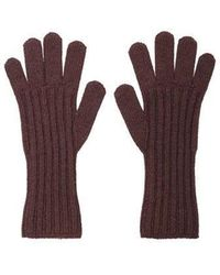 MADGOAT - Textured Cashmere Glove_ Red Brown - Lyst