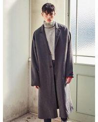 LIUNICK - Oversized Handmade Wool Coat Gray - Lyst