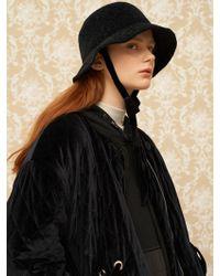 1159 STUDIOS - Mh8 Velvet Bucket Hat Black - Lyst