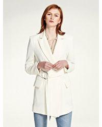 LIUNICK - Drape Belted Jacket (ivory) - Lyst