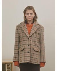 among - A Wool Check Jk - Lyst