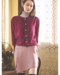 Grace Raiment - Slit Banding Mini Skirt - Lyst