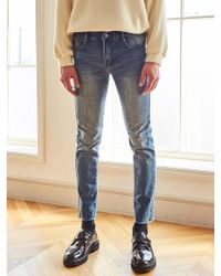 LIUNICK - Low Stone Washed Jean - Lyst