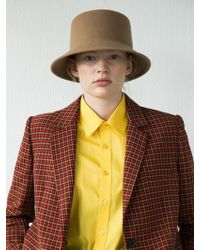 Awesome Needs - [unisex] Lambs Wool Square Bucket Hat-brown - Lyst
