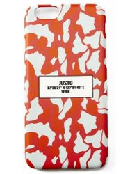 Ju'sto - Camo Iphone6 Case Red - Lyst
