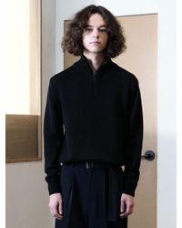 W Concept - Black Zip Turtleneck Knitwear_tc1knuw0902 - Lyst