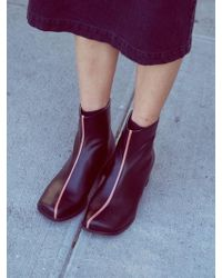 Wite - D04 - Black Square Ankle Boots - Lyst