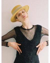 Awesome Needs - Lambs Wool Boater Hat_mustard - Lyst