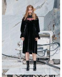 NINE ONE TWO - Combine Hoodie Dress_black - Lyst
