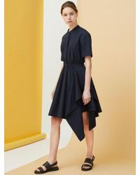 MILLOGREM - Draped Shirts Dress - Navy - Lyst