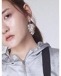 Baby Centaur - Baby Crystal Grape Earring White - Lyst