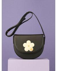 UNDER82 - Camilla Mini Flower Shoulder Bag Black - Lyst