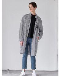 W Concept - [unisex] Stripe Cotton Trench Coat - Lyst