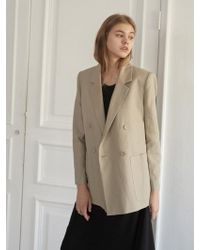 NILBY P - Linen Double Jacket Be - Lyst