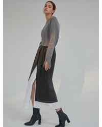 AEER - Skirt Stripe Inner Layerd Slit Black - Lyst
