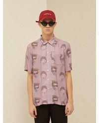 9d9fa017 13Month - Face Printing Aloha Shirt Purple - Lyst