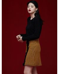 Grace Raiment - Stripe Knit Skirt - Lyst
