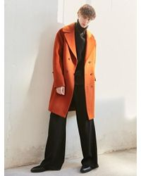 BONNIE&BLANCHE - Moment Double Overfit Coat Orange Brown - Lyst