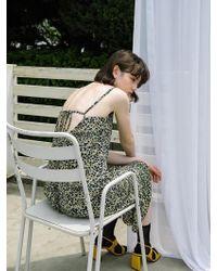 F.COCOROMIZ - Ruffle Slip Dress - Lyst