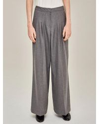 LIUNICK - Relaxed Wide Pants Gray - Lyst