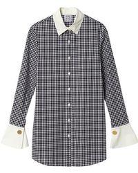 THE ASHLYNN - Anna Cotton-poplin Shirt Check - Lyst