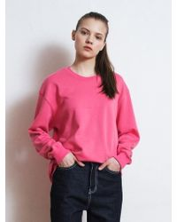W Concept - [unisex] R Logo Picture Printing Sweatshirt Pink - Lyst