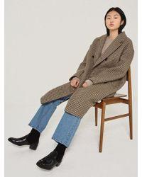 W Concept - Kelin Coat Brown - Lyst