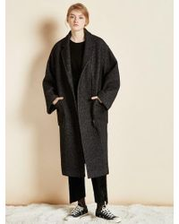 Clue de Clare - Oversize Zipper Coat Black - Lyst