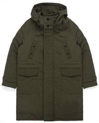 W Concept - Oversize Padding Coat Khaki - Lyst