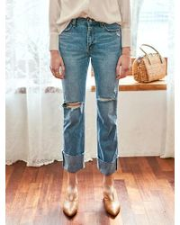 YAN13 - Romantic Damage Jean Denim - Lyst