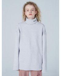 WAIKEI - [unisex] Stripe Turtleneck T-shirt - Lyst