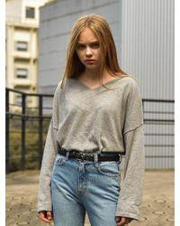 W Concept - Lorient Leather Belt 2color - Lyst